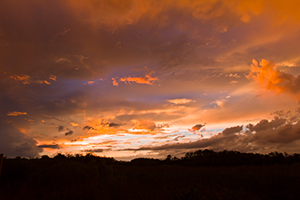 Stormy Sunset matted