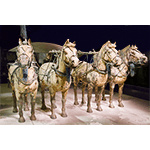 Bronze Horses From Qin Dynasty 210 BC